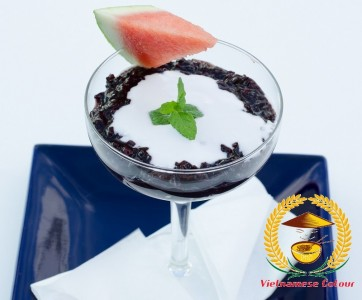 25. Black rice pudding